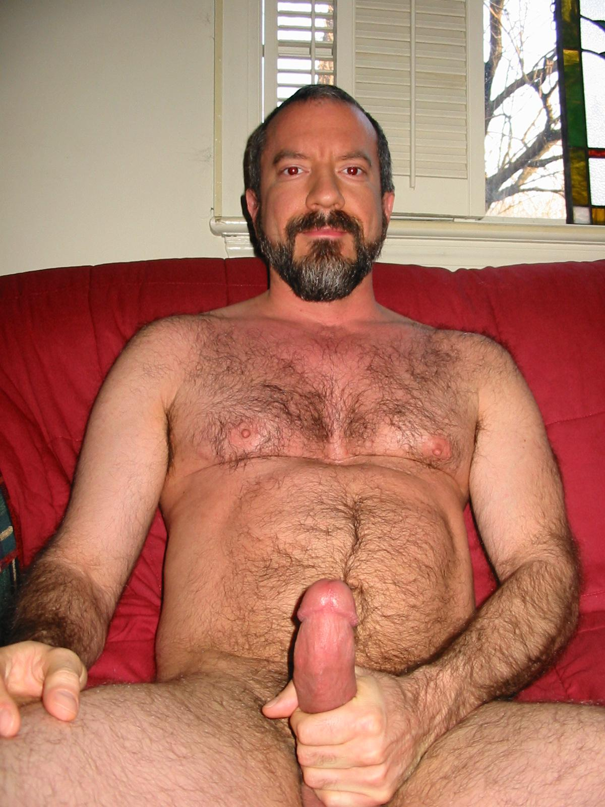 Hairy bear suck cock